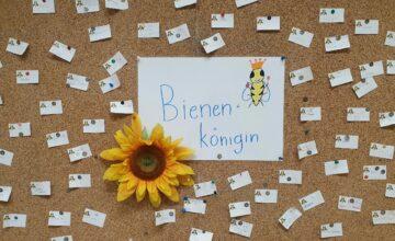 Wir werden nächstes Jahr eine Bienenpatenschaft übernehmen.